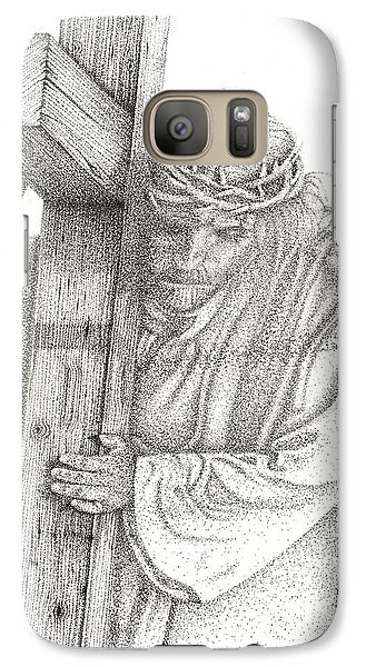 Galaxy Case featuring the drawing The Cross by Mayhem Mediums