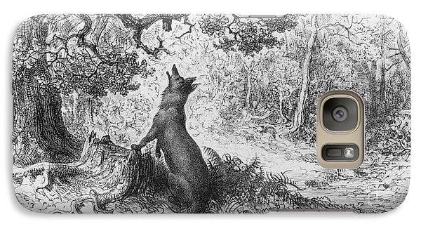 The Crow And The Fox Galaxy Case by Gustave Dore