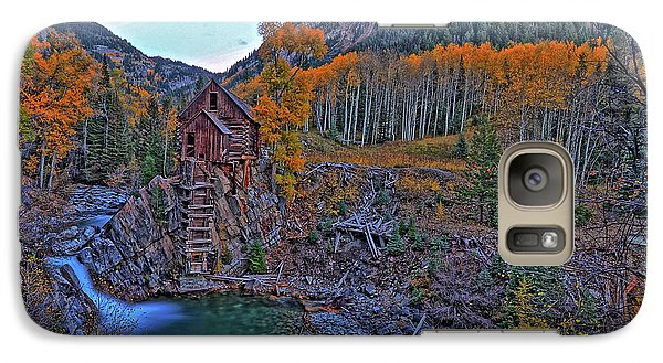 Galaxy Case featuring the photograph The Crystal Mill by Scott Mahon