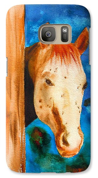 Galaxy Case featuring the painting The Curious Appaloosa by Sharon Mick
