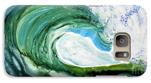 Galaxy Case featuring the painting The Curl by Joan Hartenstein