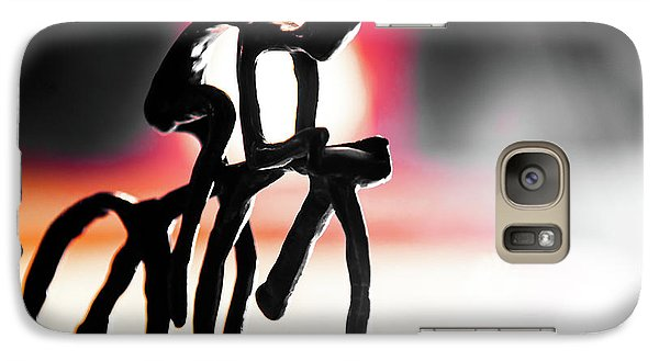 Galaxy Case featuring the photograph The Cycling Profile  by David Sutton