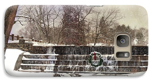 Galaxy Case featuring the photograph The Dam At Christmas by Robin-Lee Vieira