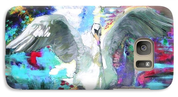 Galaxy Case featuring the painting The Dance Of The Swan by Marie-Line Vasseur