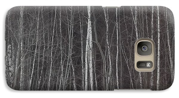Galaxy Case featuring the photograph The Dark Beyond The Trees by Jackie Mueller-Jones