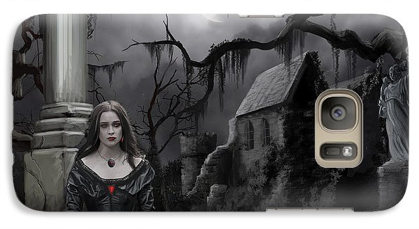 Galaxy Case featuring the painting The Dark Caster Awaits by James Christopher Hill