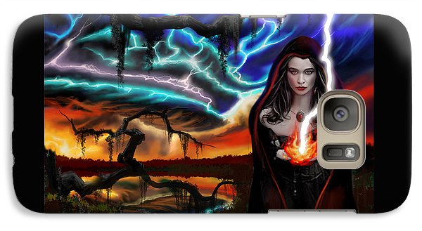 Galaxy Case featuring the painting The Dark Caster Calls The Storm by James Christopher Hill