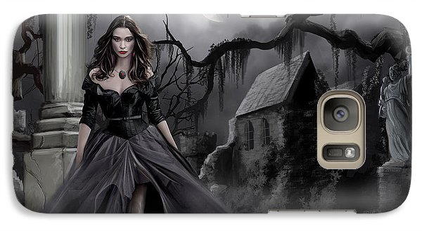 Galaxy Case featuring the painting The Dark Caster Comes by James Christopher Hill