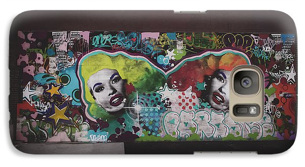 Galaxy Case featuring the photograph The Dark Side -  Graffiti by Colleen Kammerer