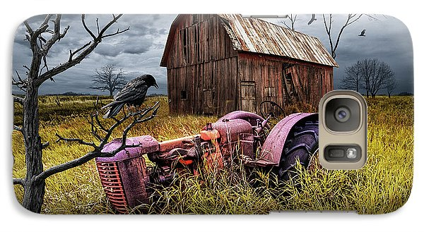 Galaxy Case featuring the photograph The Decline And Death Of The Small Farm by Randall Nyhof