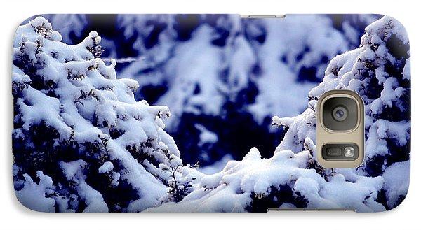 Galaxy Case featuring the photograph The Deep Blue - Winter Wonderland In Switzerland by Susanne Van Hulst