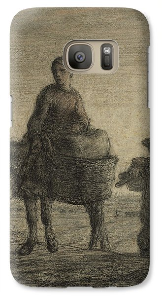The Departure For Work Galaxy S7 Case by Jean-Francois Millet