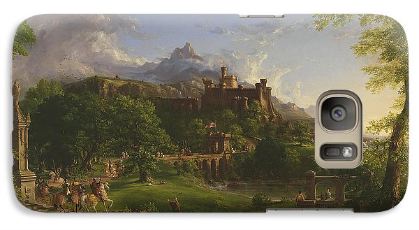 The Departure Galaxy Case by Thomas Cole