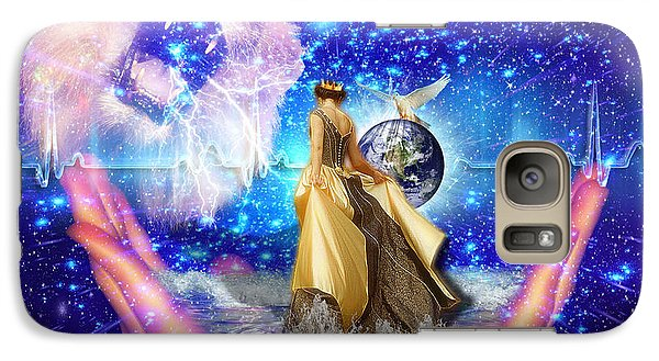 Galaxy Case featuring the digital art The Depth Of Gods Love by Dolores Develde