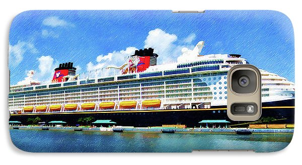 Galaxy Case featuring the painting The Disney Dream In Nassau by Sandy MacGowan