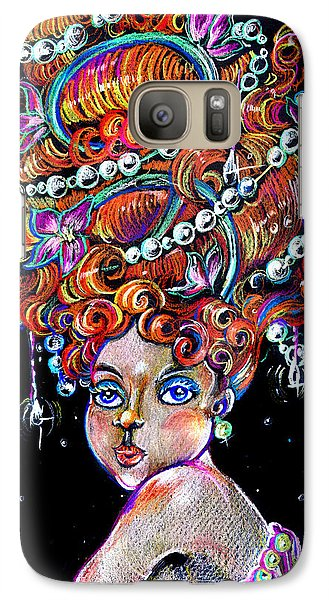 Galaxy Case featuring the drawing The Diva by Nada Meeks