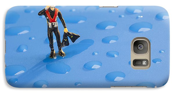 Galaxy Case featuring the photograph The Diver Among Water Drops Little People Big World by Paul Ge