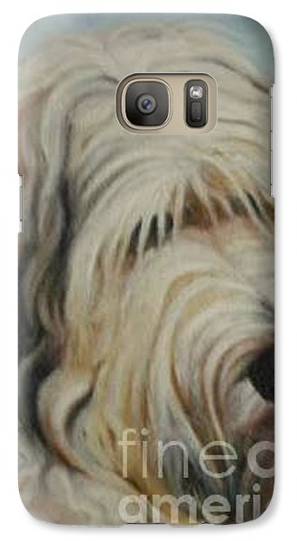 Galaxy Case featuring the painting The Dog by Sorin Apostolescu
