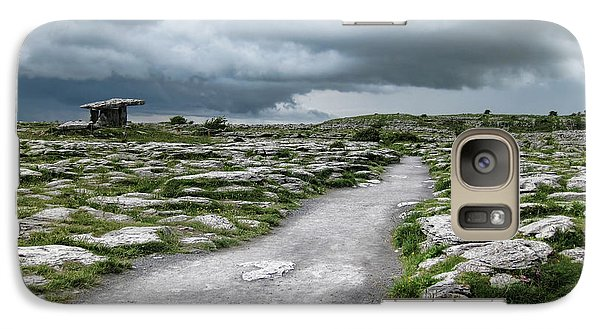 Galaxy Case featuring the photograph The Dolmen In The Burren by Menega Sabidussi