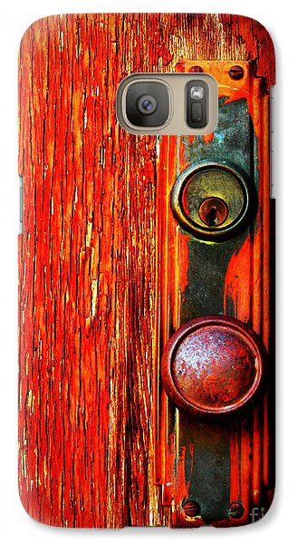 Galaxy Case featuring the photograph The Door Handle  by Tara Turner