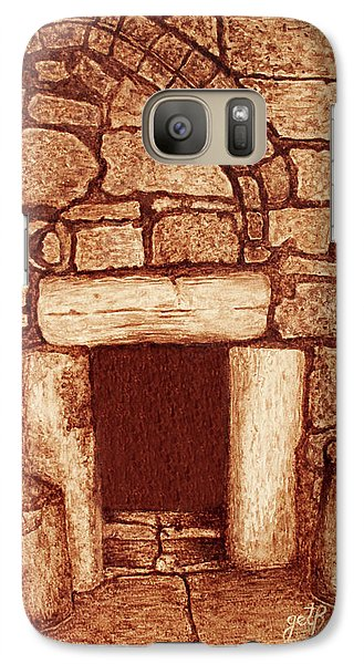 Galaxy Case featuring the painting The Door Of Humility At The Church Of The Nativity Bethlehem by Georgeta Blanaru