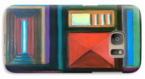 Galaxy Case featuring the painting The Doors Of Hope  by Laila Awad Jamaleldin