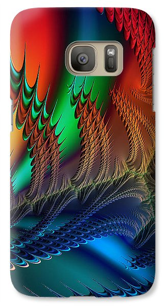 Galaxy Case featuring the digital art The Dragon's Den by Kathy Kelly