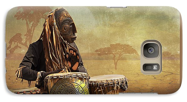 Galaxy Case featuring the photograph The Dream Of His Drums by Christina Lihani