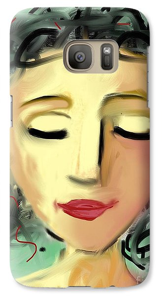 Galaxy Case featuring the digital art The Dreamer by Elaine Lanoue