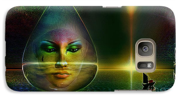Galaxy Case featuring the digital art The Drop by Shadowlea Is