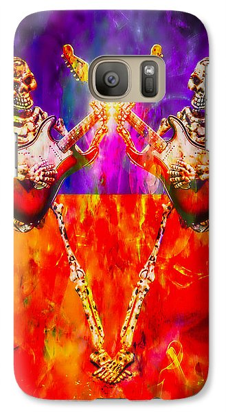 Galaxy Case featuring the photograph The Duel by Jeff Gettis