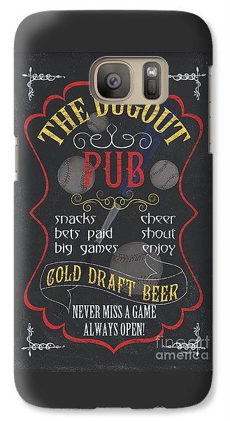 Baseball Bats Galaxy S7 Case - The Dugout Pub by Debbie DeWitt