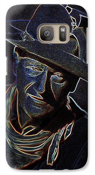 Galaxy Case featuring the mixed media The Duke by Charles Shoup