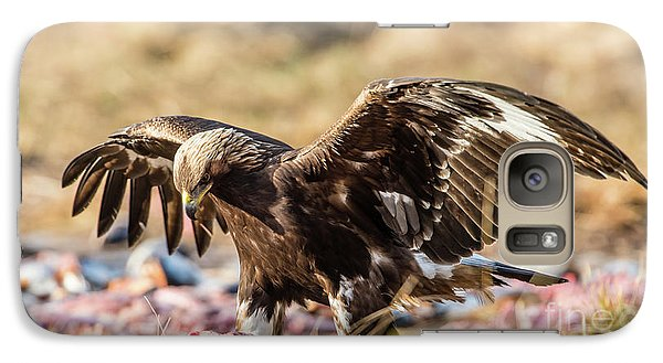 Galaxy Case featuring the photograph The Eagle Have Come Down by Torbjorn Swenelius