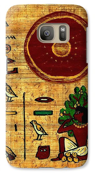 Galaxy Case featuring the painting The Earth Is In Joy by Pet Serrano