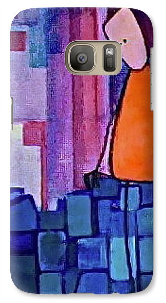 Galaxy Case featuring the painting The Edge by Donna Howard