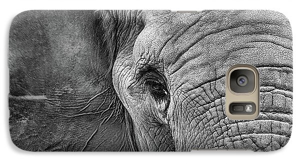 The Elephant In Black And White Galaxy S7 Case