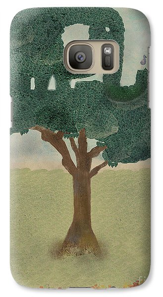 Galaxy Case featuring the painting The Elephant Tree by Bri B