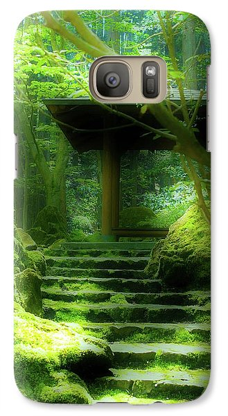 Galaxy Case featuring the photograph The Emerald Stairs by Tim Ernst