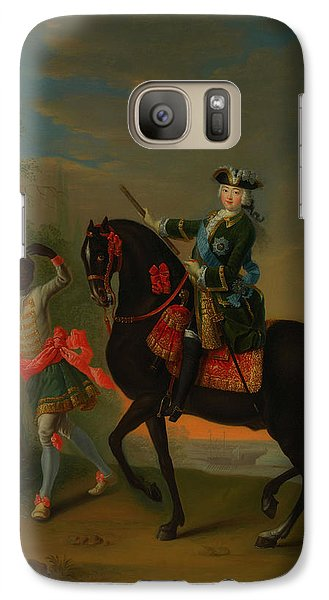 Galaxy Case featuring the painting The Empress Elizabeth Of Russia by Georg Grooth