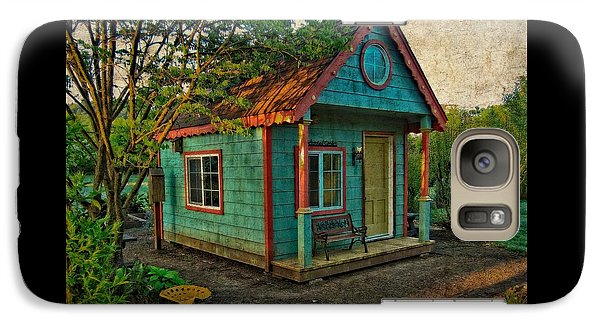 Galaxy Case featuring the photograph The Enchanted Garden Shed by Thom Zehrfeld