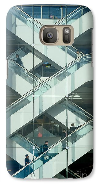 Galaxy Case featuring the photograph The Escalators by Colin Rayner