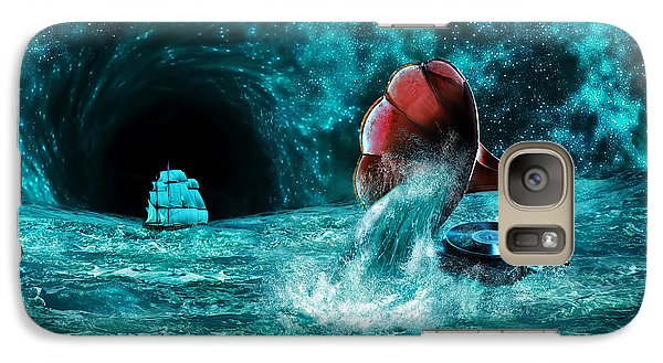 Galaxy Case featuring the digital art The Eternal Ballad Of The Sea by Olga Hamilton