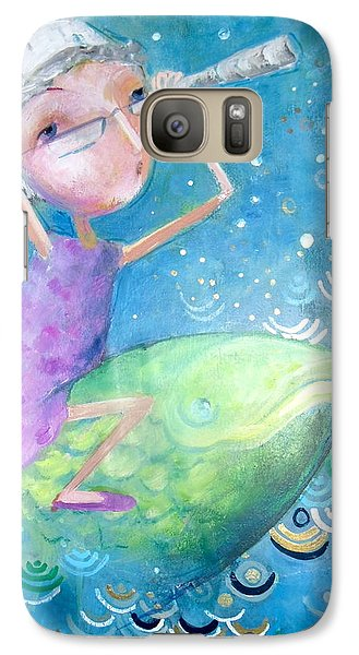 Galaxy Case featuring the painting The Eternal Quest by Eleatta Diver