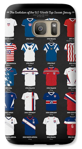 The Evolution Of The Us World Cup Soccer Jersey Galaxy S7 Case by Taylan Apukovska