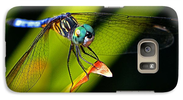 Galaxy Case featuring the photograph The Face Of A Dragonfly 003 by George Bostian