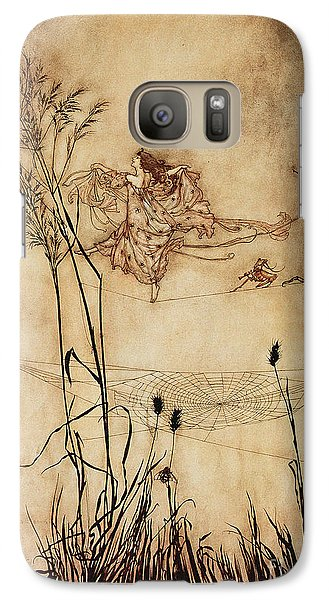 The Fairy's Tightrope From Peter Pan In Kensington Gardens Galaxy Case by Arthur Rackham