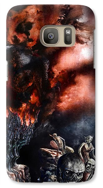 Galaxy Case featuring the painting The Fall Of Azturath by Curtiss Shaffer