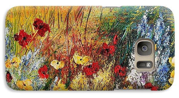 Galaxy Case featuring the painting The Field by Teresa Wegrzyn