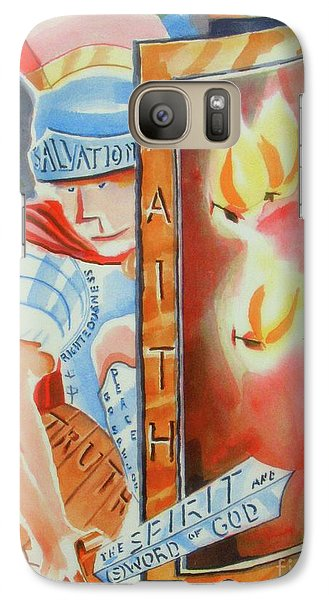 Galaxy Case featuring the painting The Fiery Darts Of The Evil One 3 by Kip DeVore